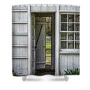 Open Door Shower Curtain