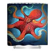 Optical Octopus Shower Curtain