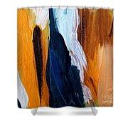 Orange #6 Shower Curtain