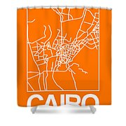 Orange Map Of Cairo Shower Curtain