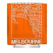 Orange Map Of Melbourne Shower Curtain