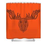 Orange Moose Shower Curtain