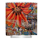 Orange Released Shower Curtain