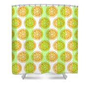 Orange Slice Pattern 2 - Tropical Pattern - Tropical Print - Lemon - Orange - Fruit - Tangerine Shower Curtain