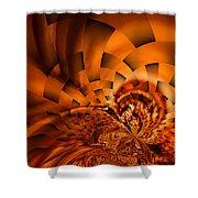Orange Weave Shower Curtain