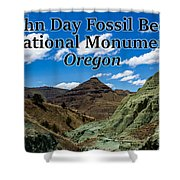 Oregon - John Day Fossil Beds National Monument Blue Basin Shower Curtain