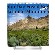 Oregon - John Day Fossil Beds National Monument Sheep Rock 1 Shower Curtain