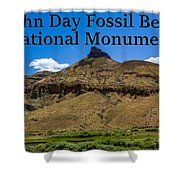 Oregon - John Day Fossil Beds National Monument Sheep Rock 2 Shower Curtain