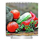 Organic Veg Shower Curtain