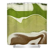 Organic Wave 1- Art By Linda Woods Shower Curtain