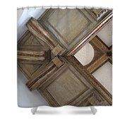 Wood Ornament Shower Curtain