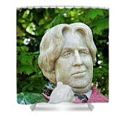 Oscar Wilde Statue One  Shower Curtain