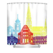 Osijek Skyline Pop Shower Curtain