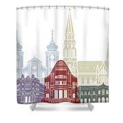 Osijek Skyline Poster  Shower Curtain