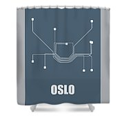 Oslo Subway Map Shower Curtain