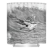 Osprey The Catch Bw Shower Curtain