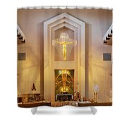Our Lady Of The Universe Cathedral Shower Curtain
