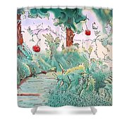 Out Of Eden Shower Curtain
