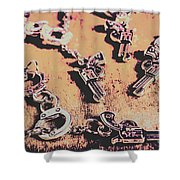 Outlaw Frontiers Shower Curtain