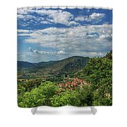 Over Roccassecca  Shower Curtain