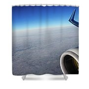 Over The Sky Shower Curtain