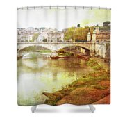 Over The Tiber Shower Curtain