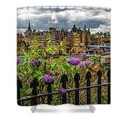 Overlooking The Train Station In Edinburgh Shower Curtain
