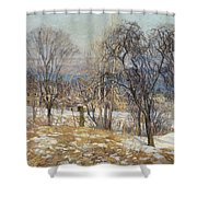 Overlooking The Valley  Shower Curtain