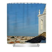 Overview Of Tavira City. Portugal Shower Curtain