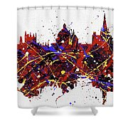 Oxford Colorful Skyline Shower Curtain