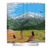 Paauw Snow Shower Curtain by Kevin Daly