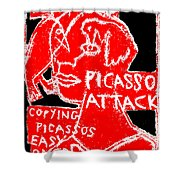Pablo Picasso Attack 6 Shower Curtain