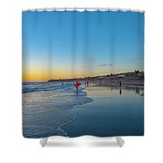 Pacific Beach Sunset  Shower Curtain