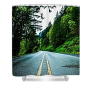 Pacific Northwest Road Shower Curtain
