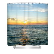 Pacific Ocean Sunset Shower Curtain