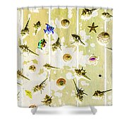 Pacific Planks Shower Curtain