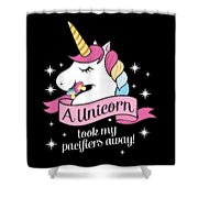 Pacifier Fairy Gift Idea Unicorn Took My Paci Away Shower Curtain