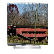 Painted Bridge At Chads Ford Pa Shower Curtain