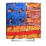 Painted Us Flag, Georgia, Usa Shower Curtain