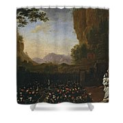 Paisaje Con San Bruno   Shower Curtain