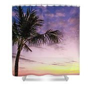 Palm In Paradise Shower Curtain by Emily Johnson