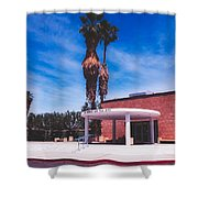 Palm Springs City Hall Shower Curtain