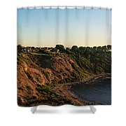 Palos Verdes Sundown Shower Curtain by Michael Hope