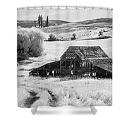 Palouse Barn Ir 9305 Shower Curtain