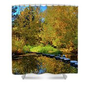 Palouse River Reflections Shower Curtain