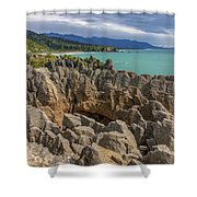 Pancake Rocks - New Zealand Shower Curtain