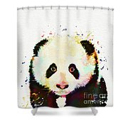 Panda Watercolor Shower Curtain