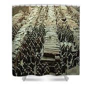 Panorama Of Pit 1, Terra Cotta Warriors Shower Curtain