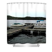 Panorama Of Schroon Lake In The Adirondack Mountains In New York Shower Curtain by Rose Santuci-Sofranko