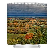 Panoramic Autumn View Shower Curtain
